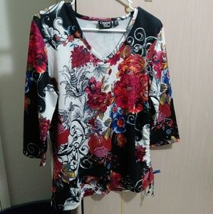 Multicolored Long sleeved blouse